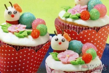 Receita de Cupcake centopeia