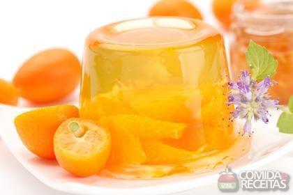Receita de Gelatina de laranja