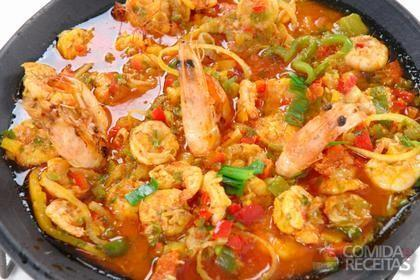 Receita de Paella de frutos do mar