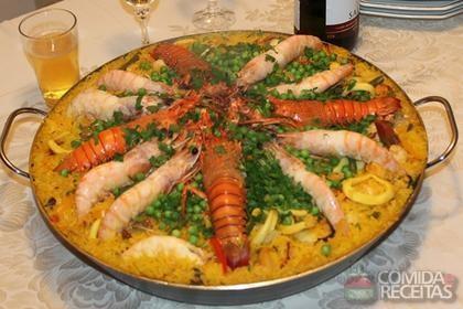 Receita de Paella valenciana
