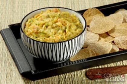 Receita de Patê de legumes e sardinha