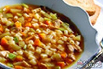 Receita de Sopa de Ave Maria e legumes caramelizados