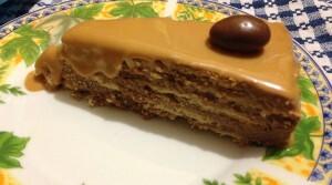 torta de galletas de vainilla con manjar
