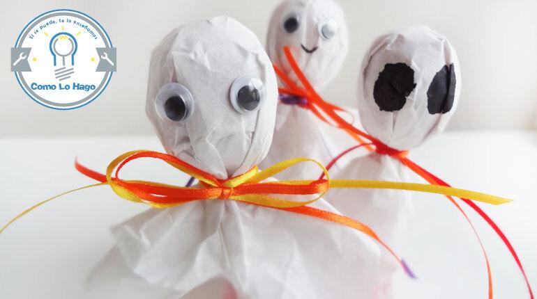 Cómo hacer fantasmas con kojaks o chupetes dulces