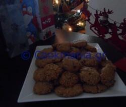 Cookies με φυστικοβούτυρο και λάδι καρύδας