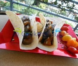 Tacos με μελιτζάνα και μοσχαρίσια μπριζόλα