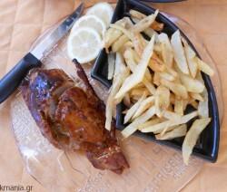 Πικάντικο ψαρονέφρι με bbq sauce και πορτοκάλι