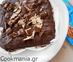 Brownies με μπανάνα και σοκολάτα βάφλα