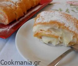 Κέικ καρότου ρολό με κρέμα τυριού