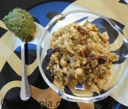 Πλιγούρι πιλάφι με ρεβίθια και pesto σέλερι