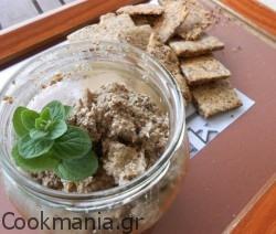 Άλειμμα μανιταριών με καρύδια και μυρωδικά