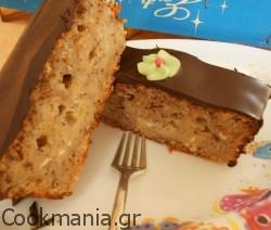 Κέικ μπανάνα με παπαρουνόσπορο και γλάσο σοκολάτας
