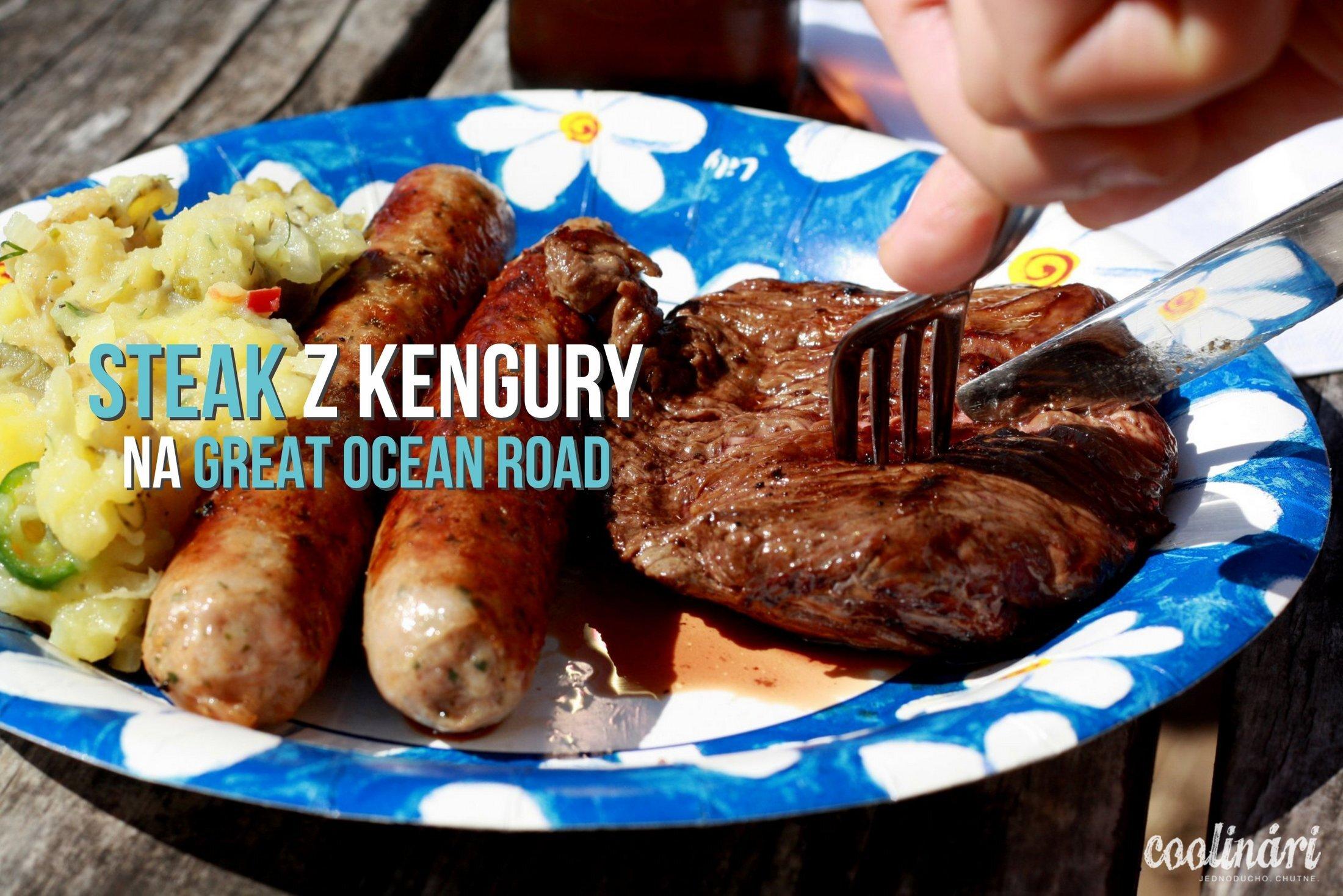 Steak z kengury na Great Ocean Road