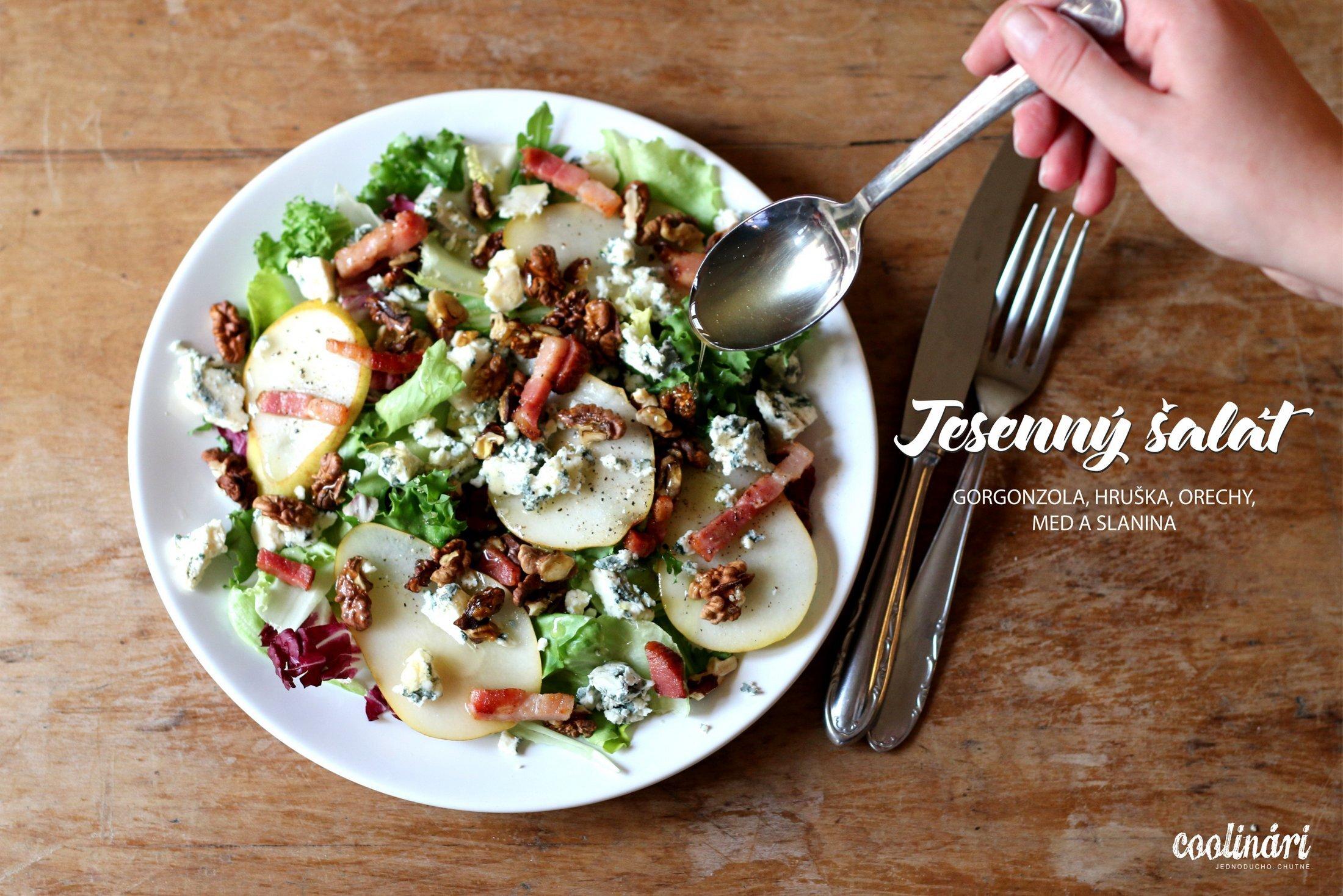 Šalát s hruškou a gorgonzolou