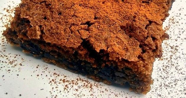 Brownie de café com chocolate amargo