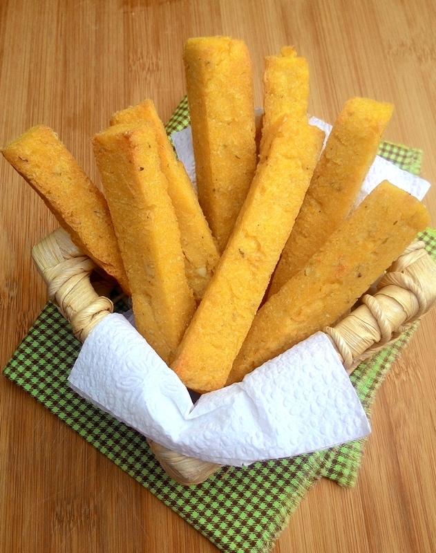 Palitos de polenta e ricota no forno ou na air fryer