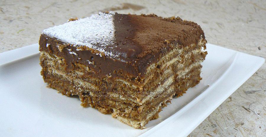 Gâteau thé brun, chocolat et café