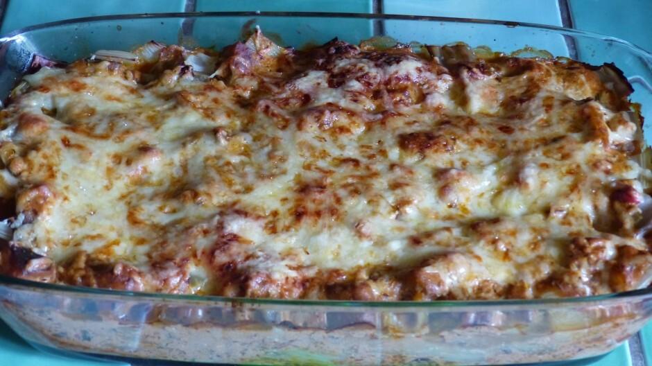 Gratin de lasagnes aux blettes sauce ratatouille