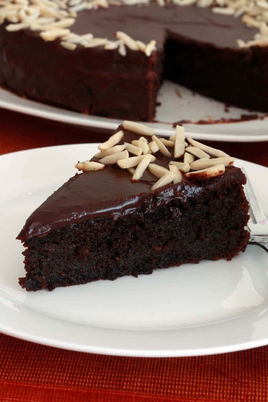 Chocolate Almond Quinoa Cake