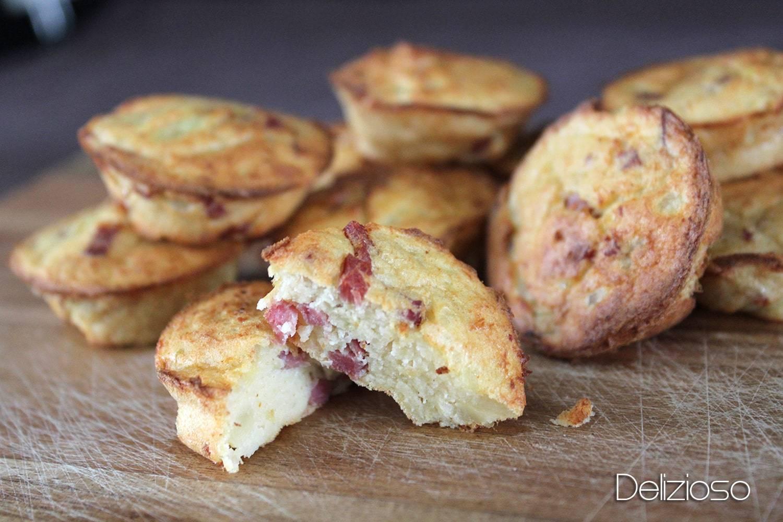 Muffins apéritifs crabe, bacon et pomme de terre
