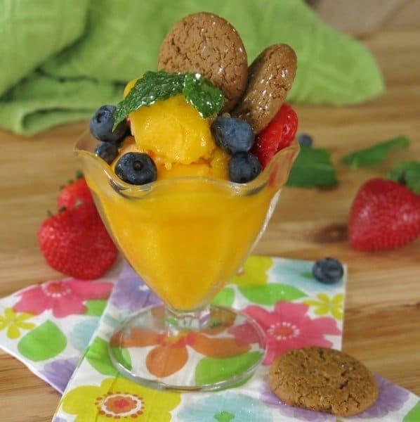 Easy Mango Sorbet #IceCreamforOXO