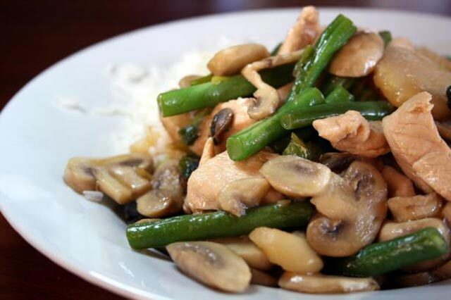 Piletina sa gljivama na kineski način