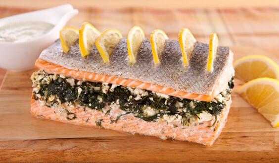 Lahodný losos na grécky spôsob