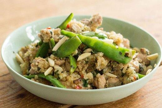 Šťavnaté grilované kura s citrónom na quinoe