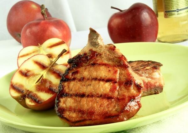 Bravčové kotlety glazované jablkovým cidrom