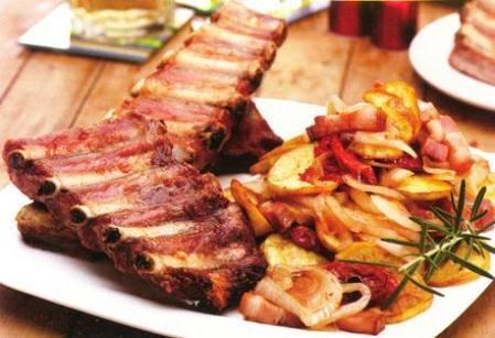 Pechito de cerdo al horno