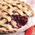 Lattice-Topped Triple-Cherry Pie