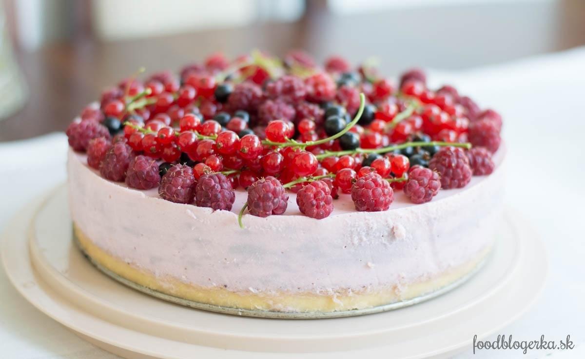 Jahodovo-tvarohová torta