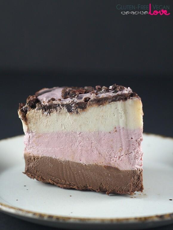 Raw Vegan Neapolitan Cake {Gluten-Free, Paleo}