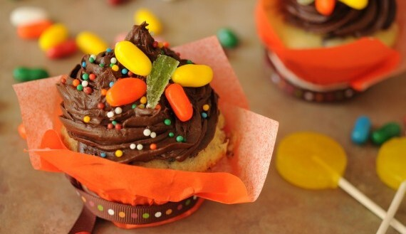 Cupcake con Chips de Chocolate y Frambuesas