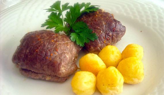 escalopas de carne rellenas