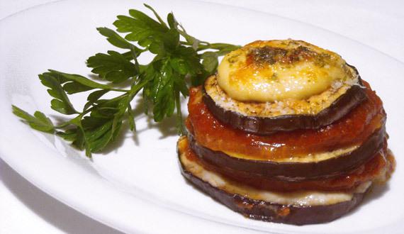 Lasaña de Berenjenas y Tomates