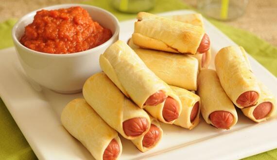 chaparritas con queso y tomate