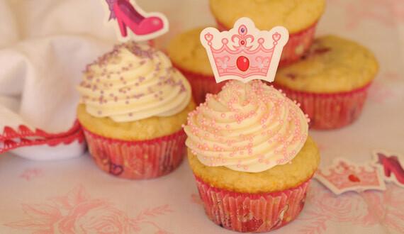 Cupcake de Vainilla y Frambuesas