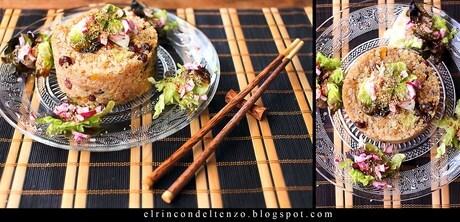 Risotto de quinoa, calabaza y pasas