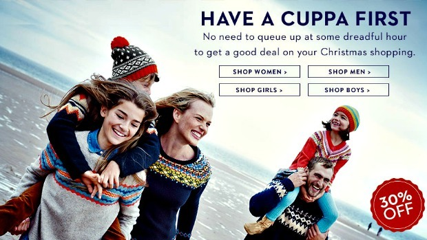 30% off everything at Boden until 5 December, including men's and women's fashions