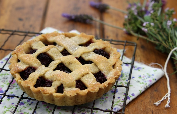 Happy Birthday: Blackberry Hazelnut Lattice Pie