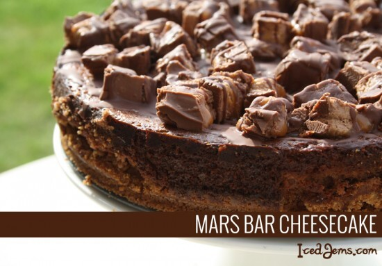 Baked Mars Bar Cheesecake