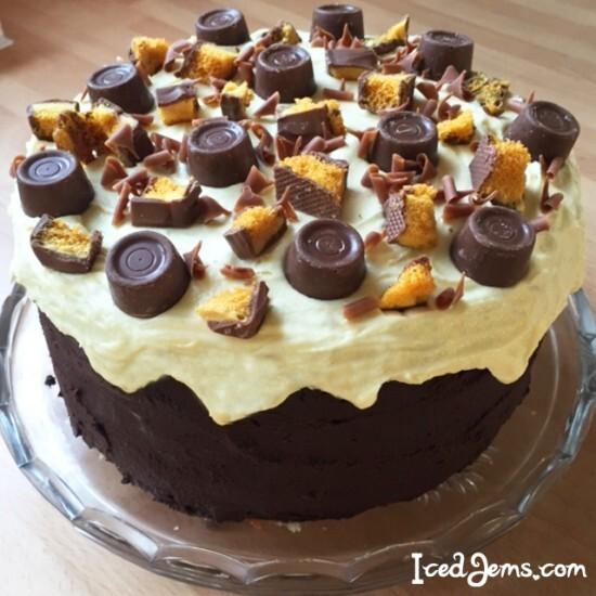 Rolo & Crunchie Cake