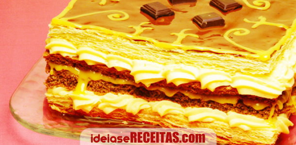 pastel doce de massa folhada