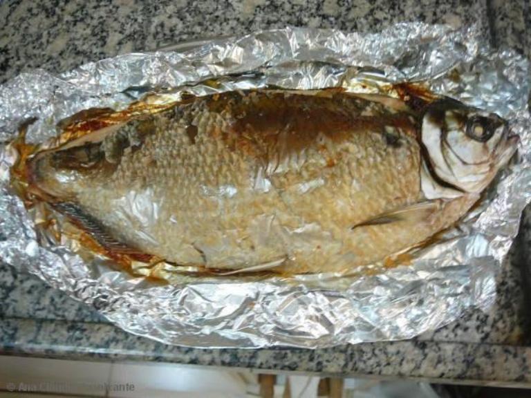 Peixe de forno recheado