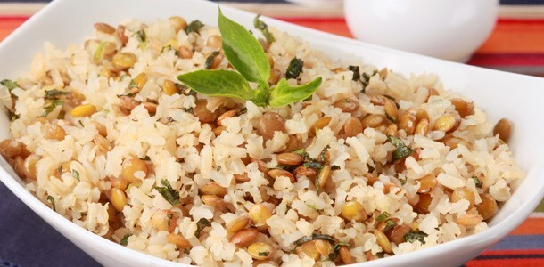 arroz integral com manteiga