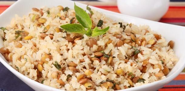 arroz integral com manteiga
