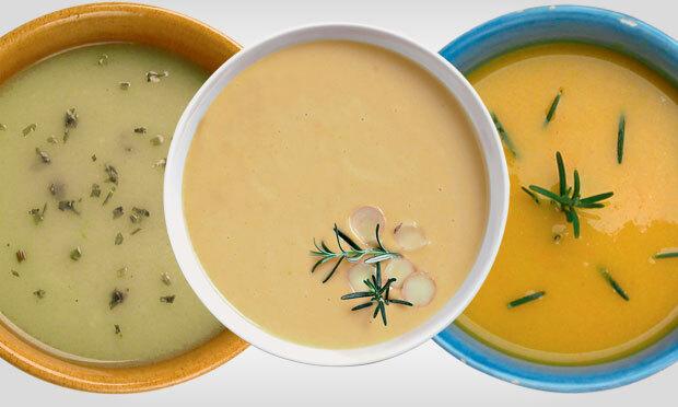 sopa leve para comer a noite