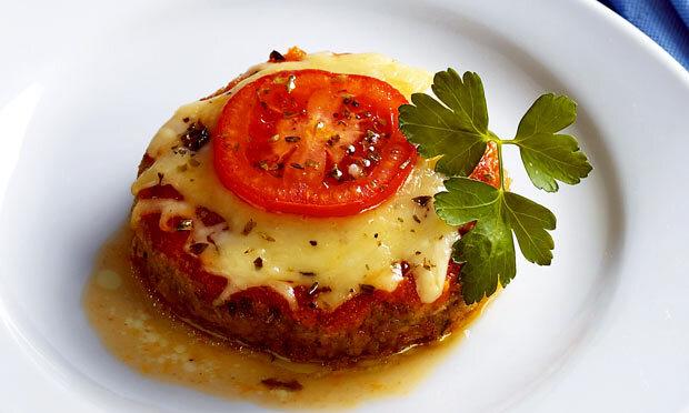 Hambúrguer à parmigiana