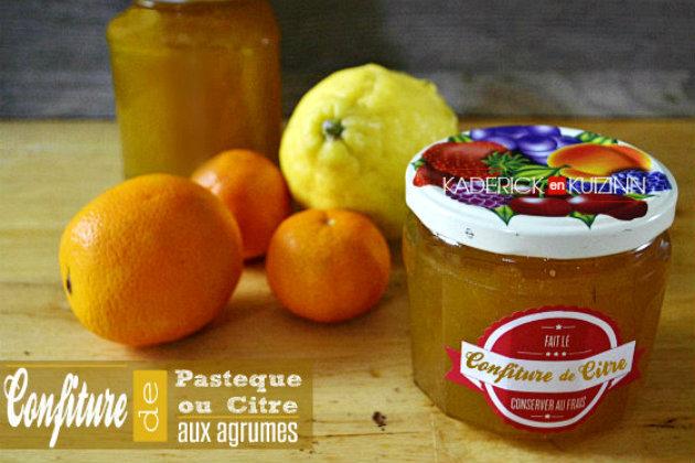 Confiture de citre – Recette de la confiture de pastèque aux agrumes